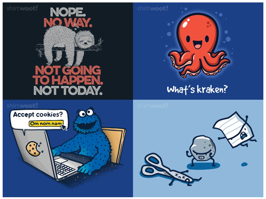 4 funny graphic tees