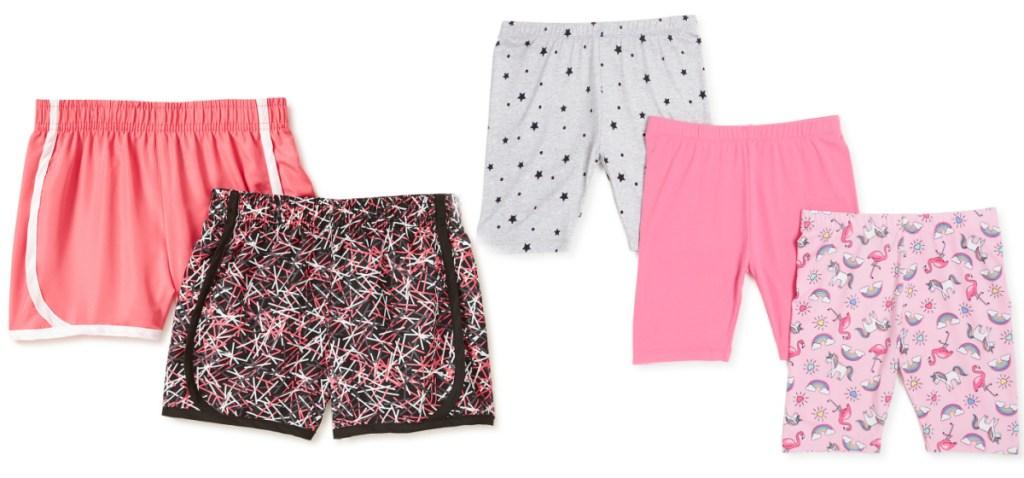 girls shorts multipacks