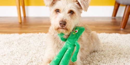 Gumby Plush Dog Toy Just $2.98 on Amazon or Chewy.com (Regularly $10)
