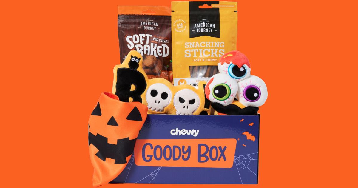 Chewy Halloween Box with orange background