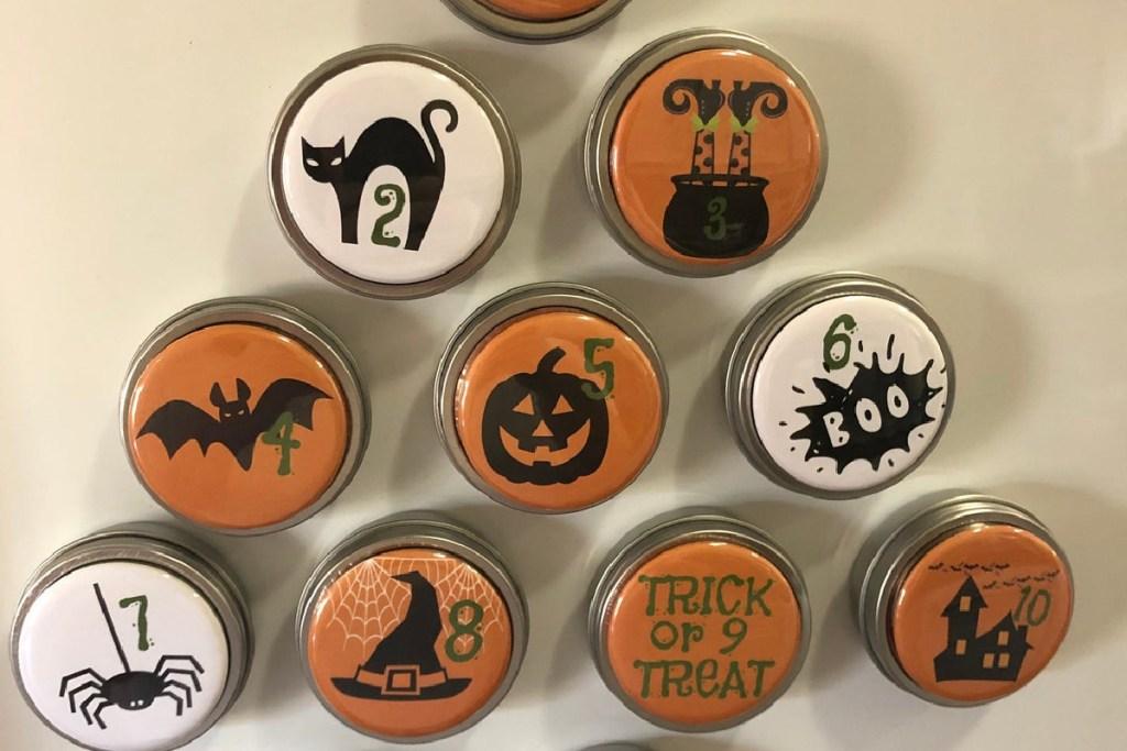 Halloween advent calendar magnets