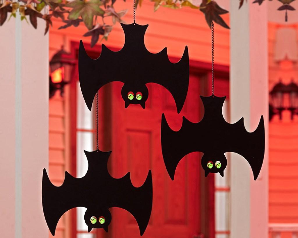 set of 3 hanging bats