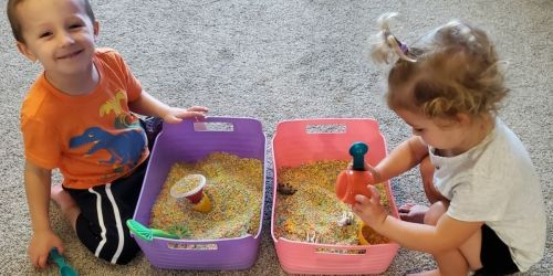 This Reader Created Sensory Boxes for Her Kiddos Using Items She Had Around the House!
