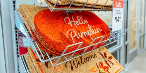 Fall Doormats Only $14.99 at Michaels (Regularly $20)   Pumpkin, Red Truck, Leaves & More