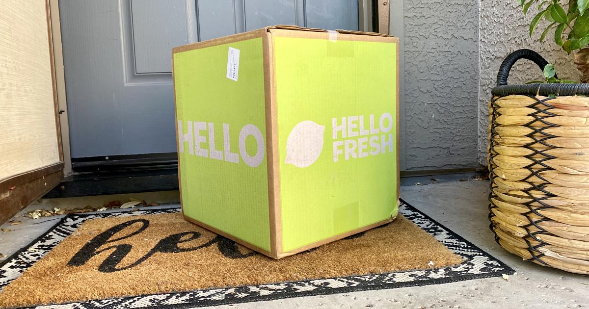 hellofresh box on the doorstep