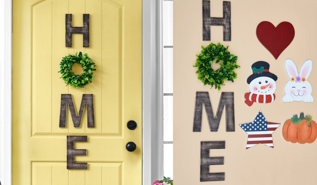 home porch sign