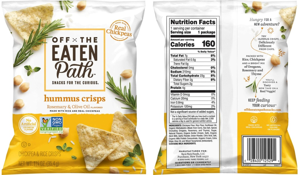 hummus chips front and back