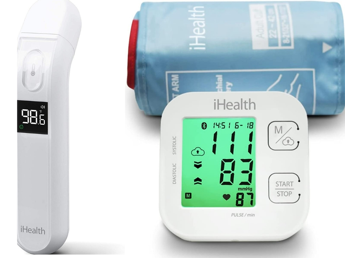 ihealth blood pressure monitor and touchless thermometer