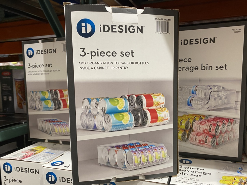 box with beverage organizer in store display