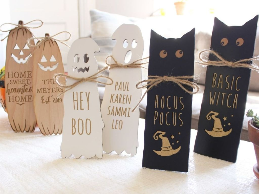 Halloween signs decorations