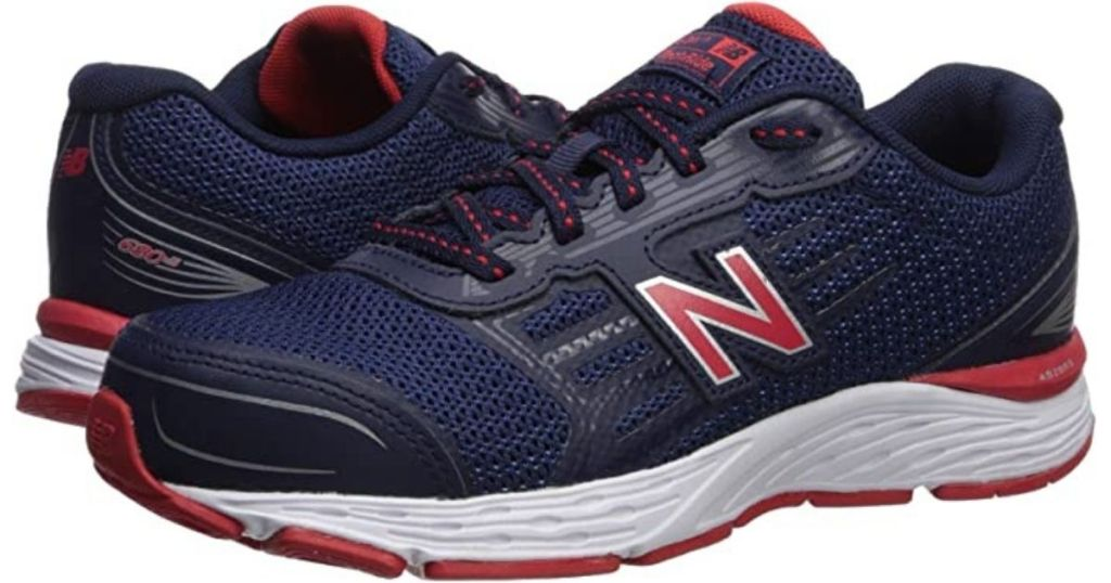 Joes New Balance navy and red shoes