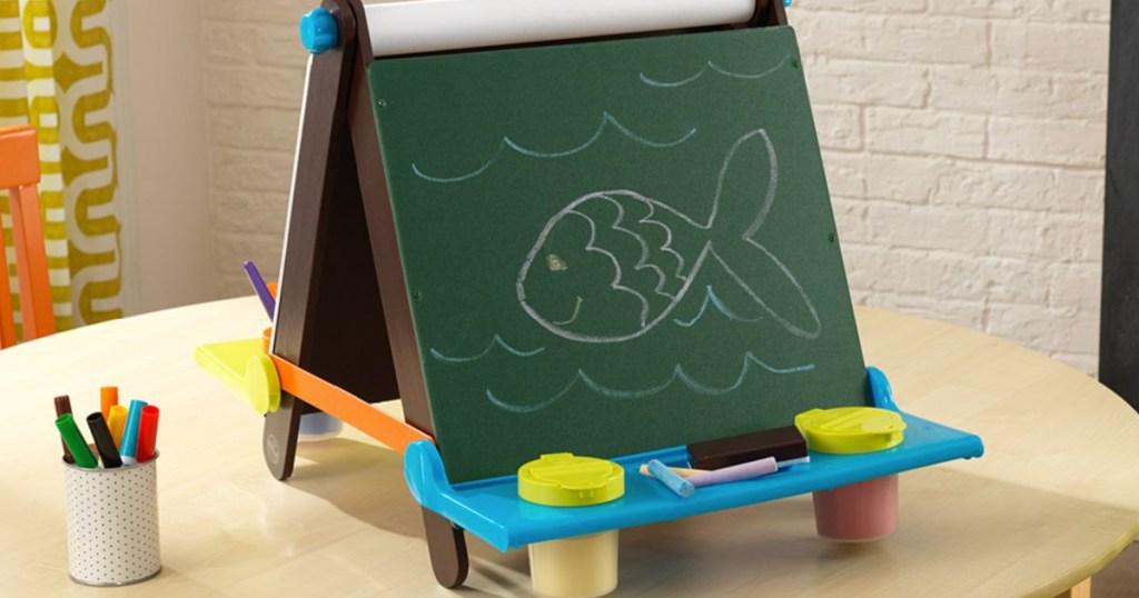 kidkraft tabletop easel chalkboard side