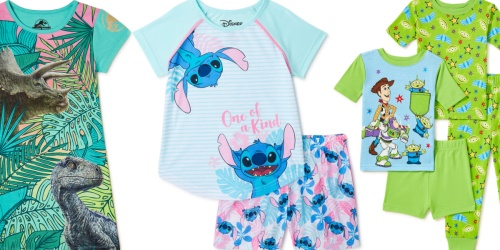 Kids Pajamas from $5.98 on Walmart.com (Regularly $15) | Disney, Dinosaurs & More