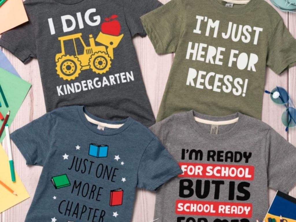 kids school shirts