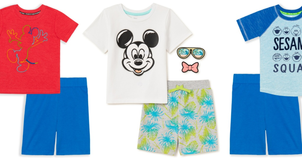 kids two piece sets mickey mouse