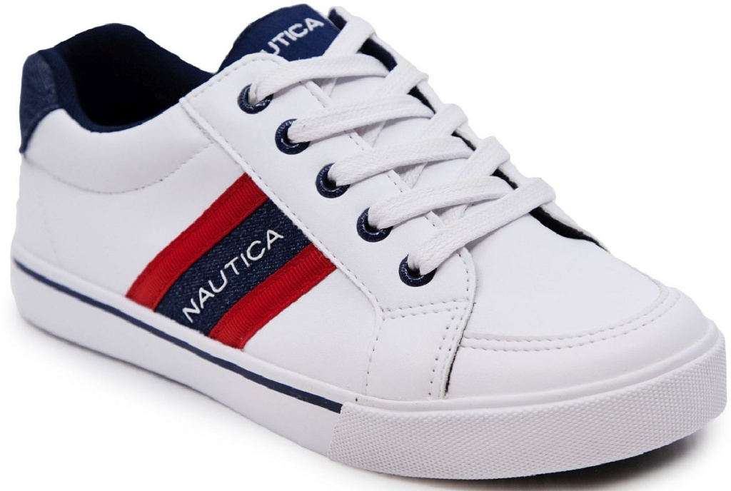 Nautica white lace up sneakers