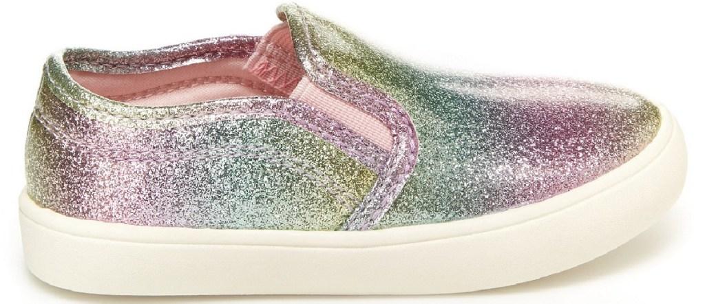 rainbow sparkle kids shoes