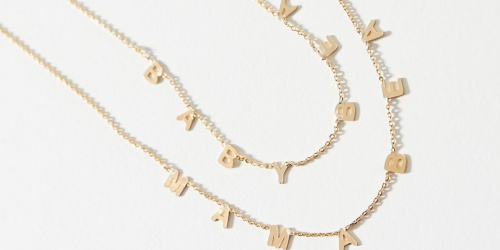 40% Off Anthropologie Sale Items | Mama Bear and Baby Bear Necklace Set Only $26.97 (Regularly $68)