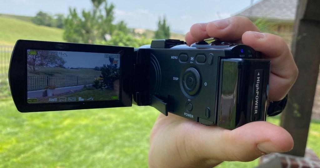 man holding a Digital Video Camcorder
