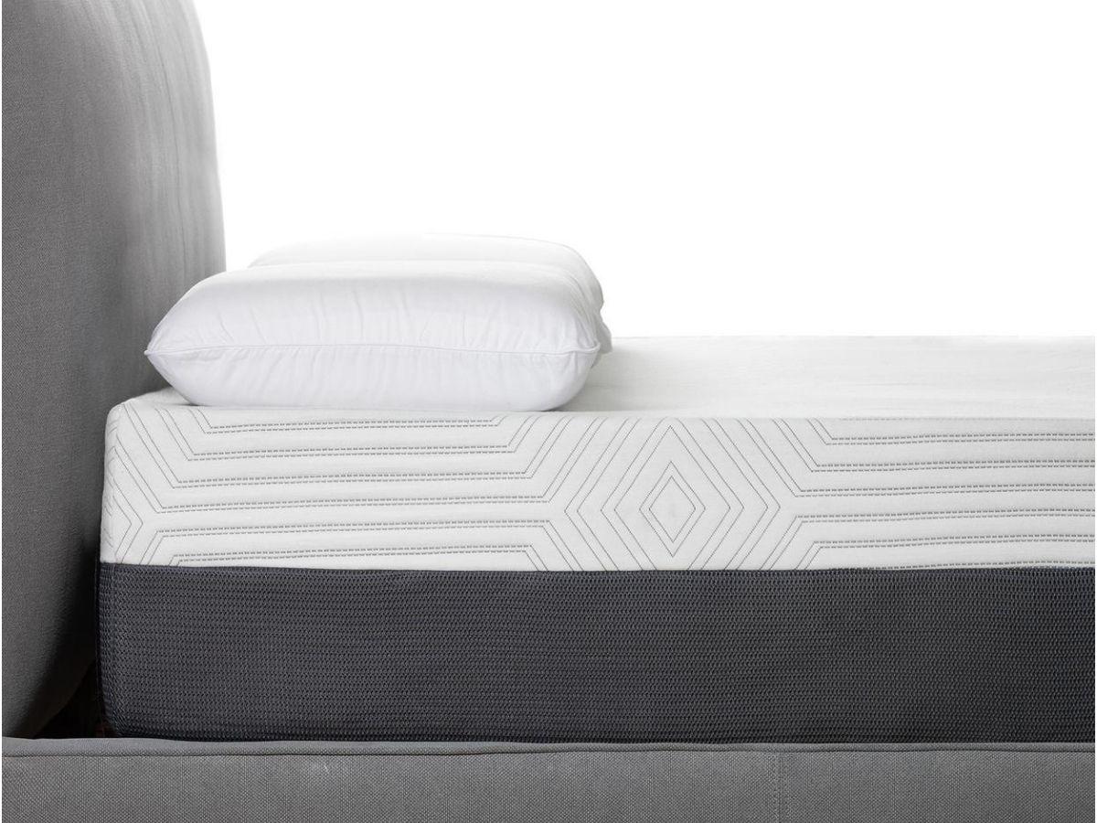 close up of white mattress