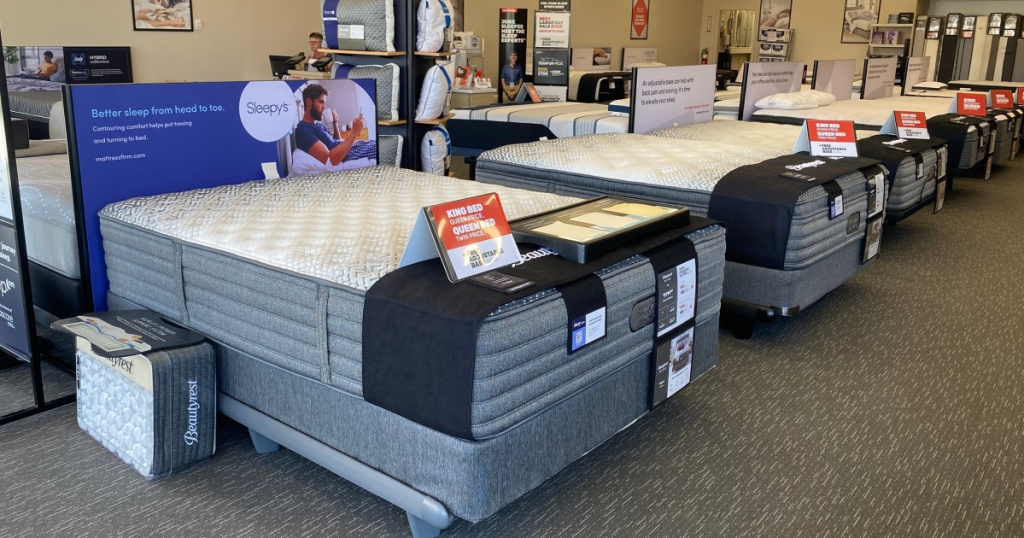 mattresses in store at mattress firm