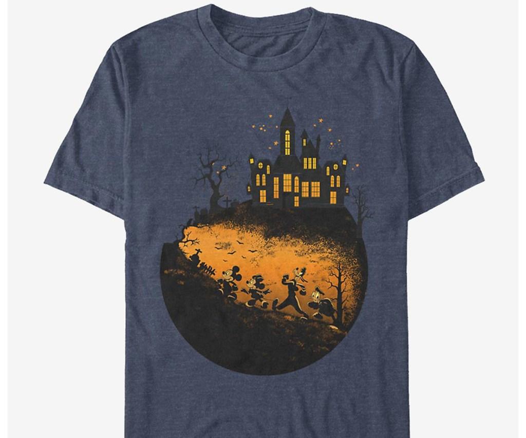 mickey and pals' haunted halloween shirt