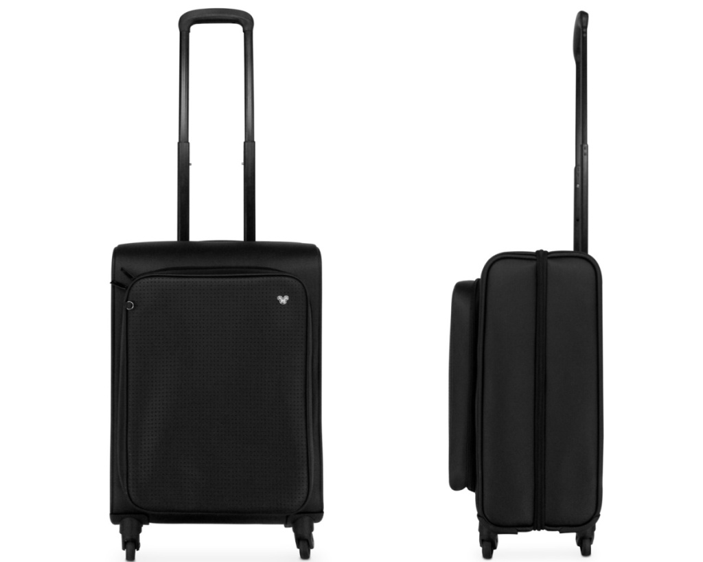 mickey rolling suitcase front and side views