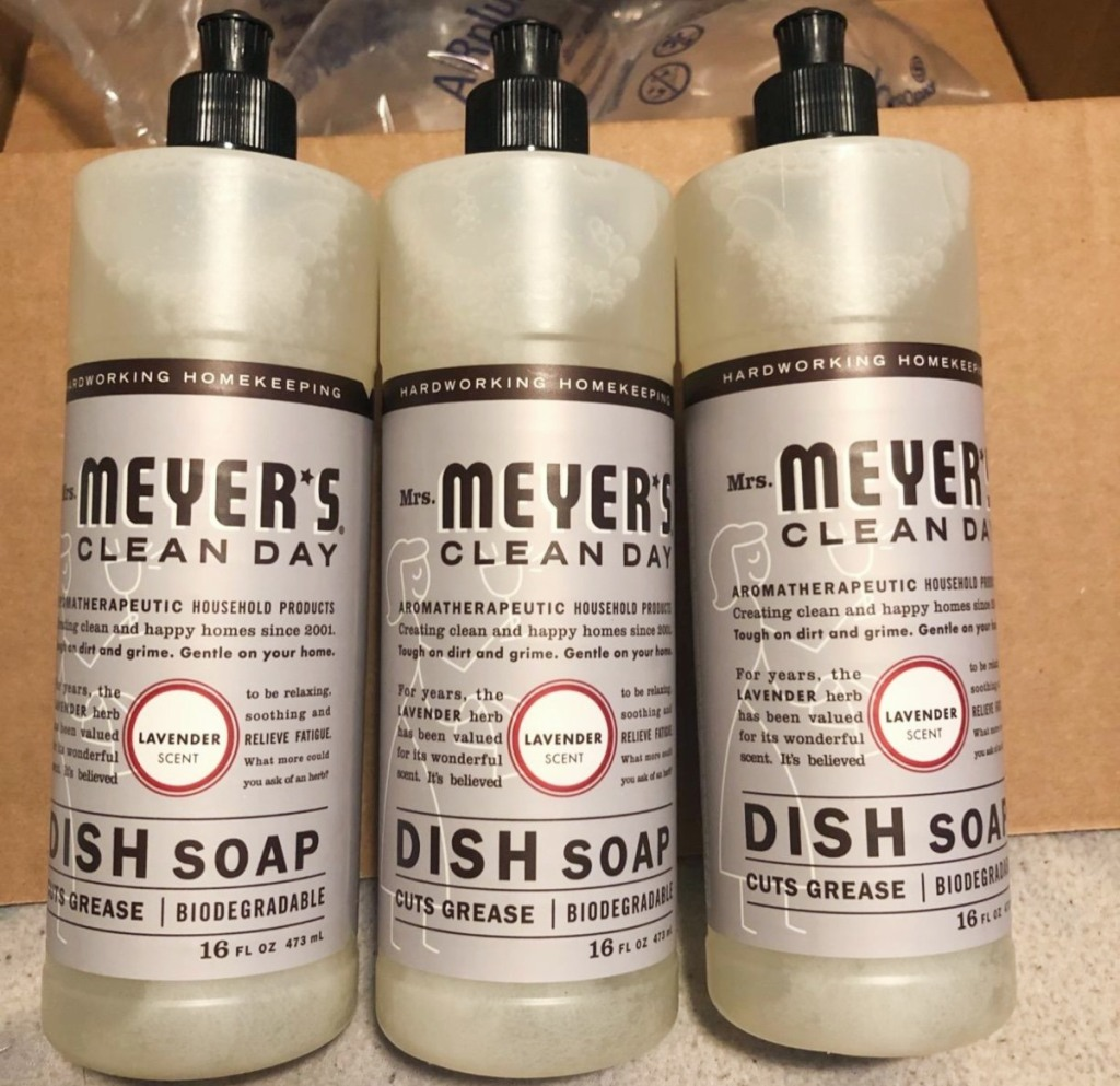 3 bottles of dish soap