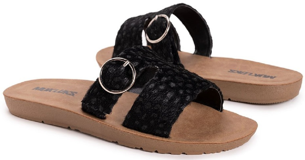 black braid flip flops