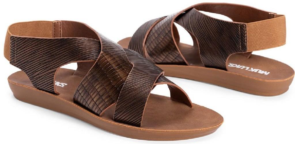 muk luks brown sandals