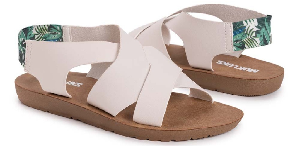 taupe and tree sandals