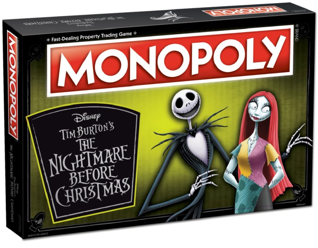 cover of The Nightmare Before Christmas Monopoly game