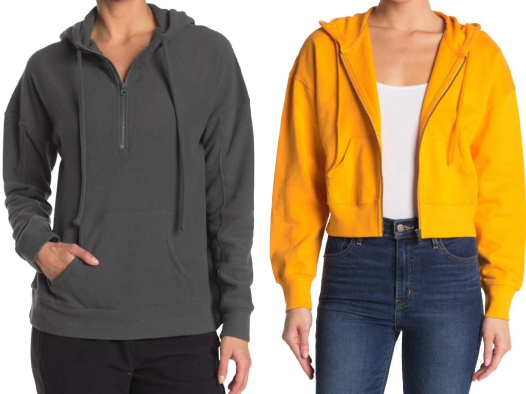 nordstrom hoodies grey and orange