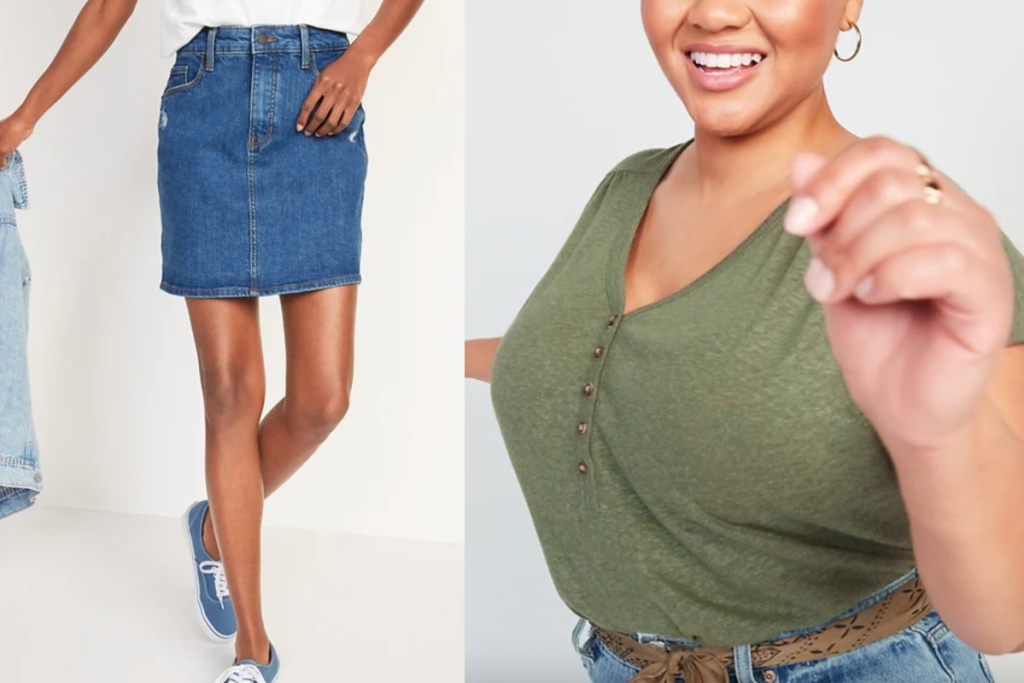 old navy skirt and top