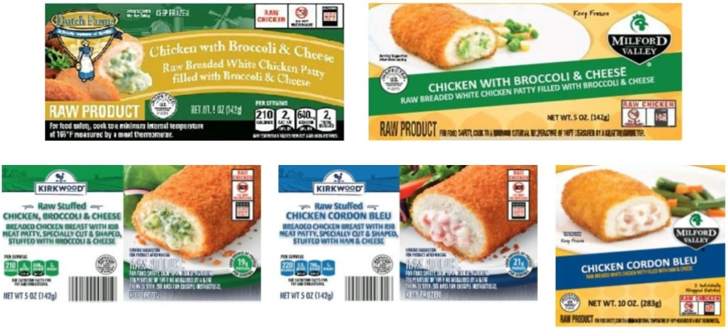 5 packages of recalled chicken