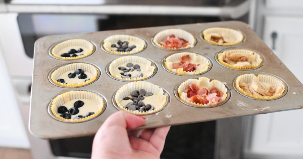 pancake muffins in a pan