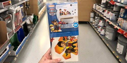Paw Patrol Peel & Stick Vinyl Wall Decals Just $4.94 | Easy Decor for Kids Room
