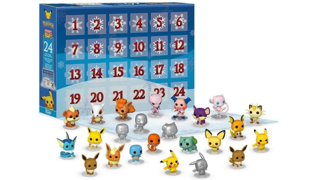 Pokemon themed advent calendar with figures
