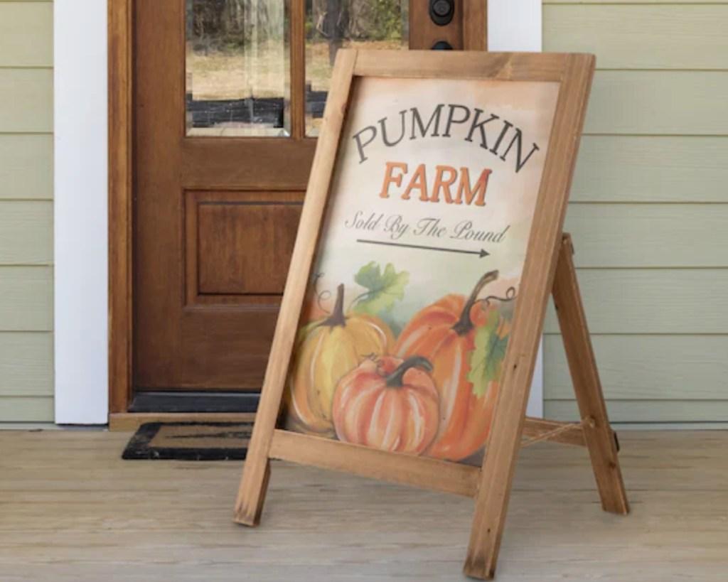 pumpkin farm porch sign