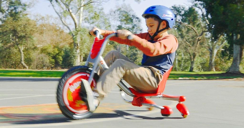 boy riding on razor flashrider 360