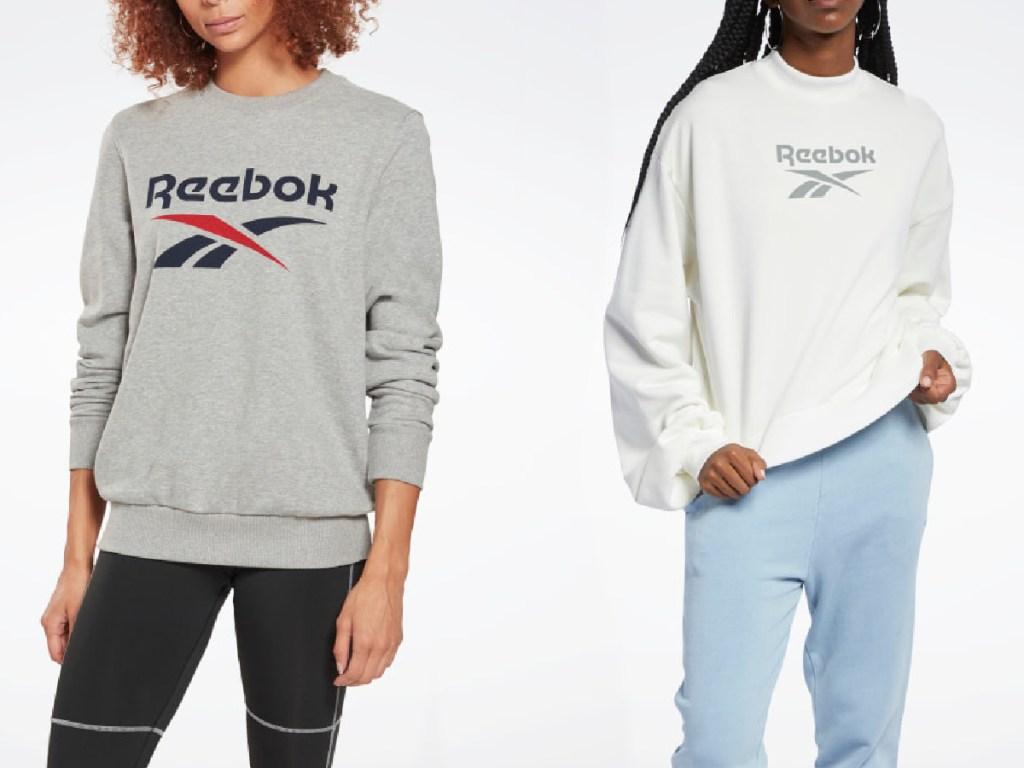girls wearing Reebok sweathshirts
