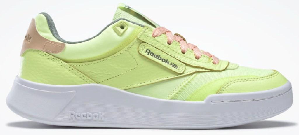 neon green Reebok shoes