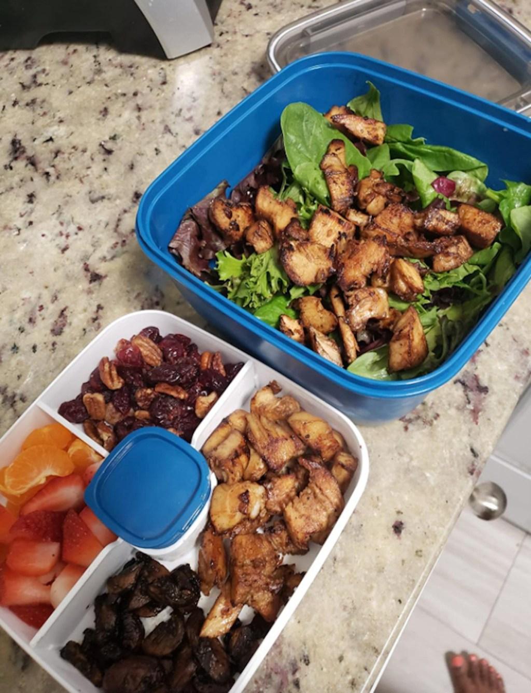 salad container bento box organizer on counter