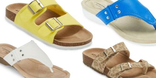 Women's Sandals Only $11.24 on JCPenney (Regularly $55) | Arizona, St John's Bay & More