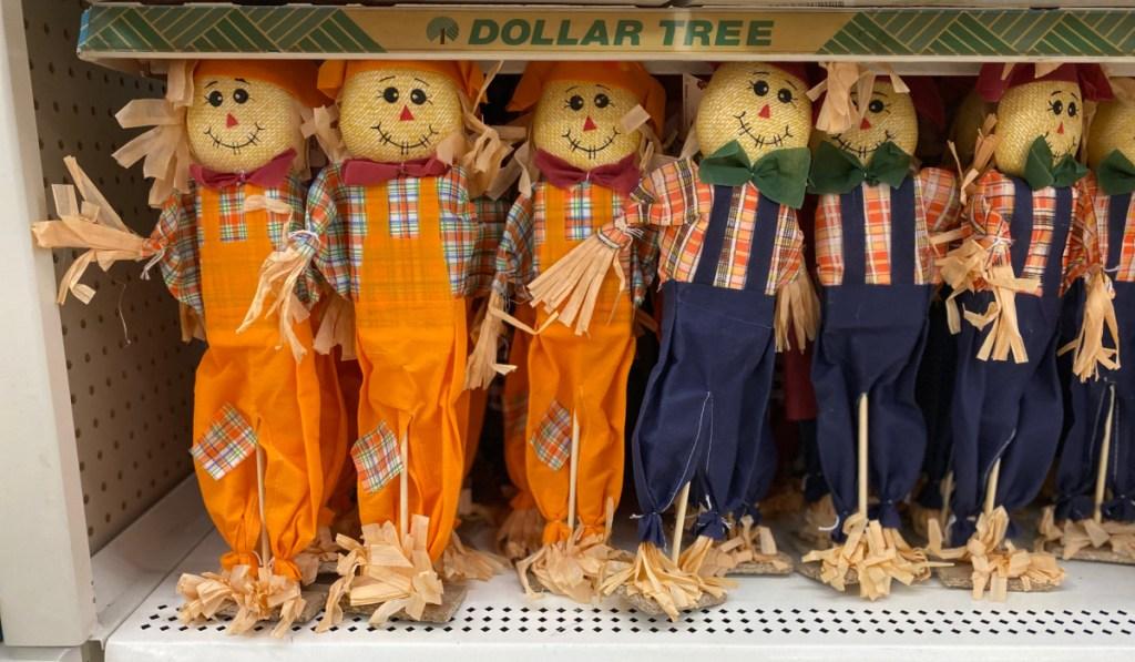 Dollar Tree scarecrows