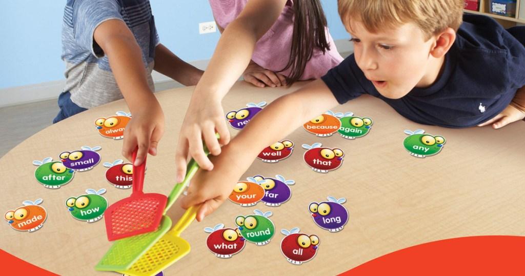 kids playing sight word game