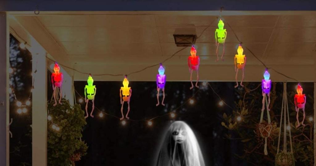 string of skeleton lights