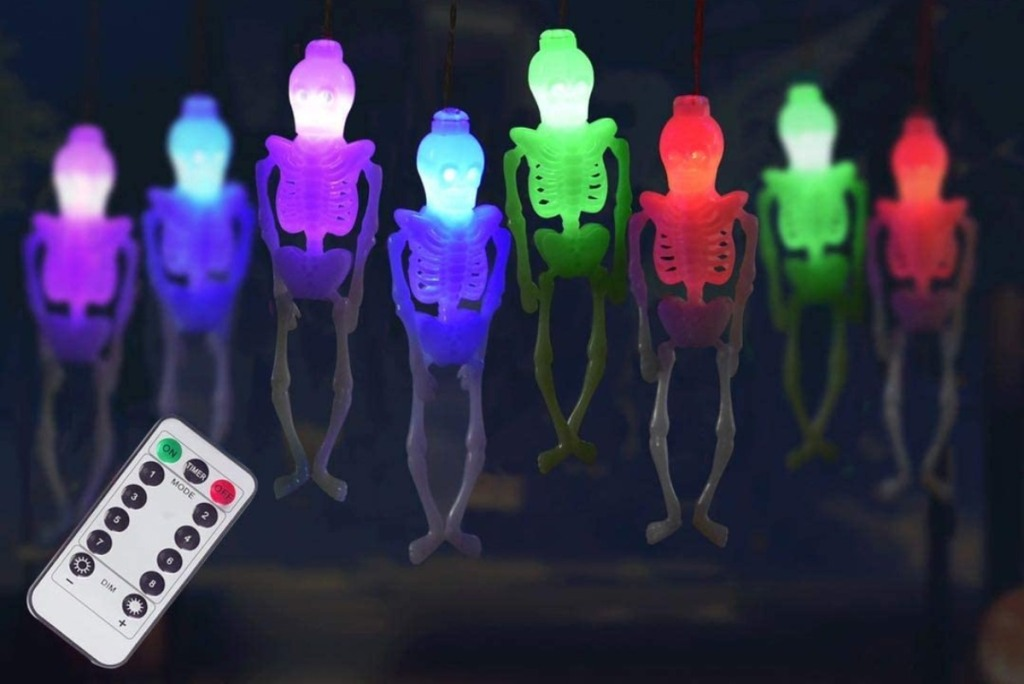 skeleton light string with remote