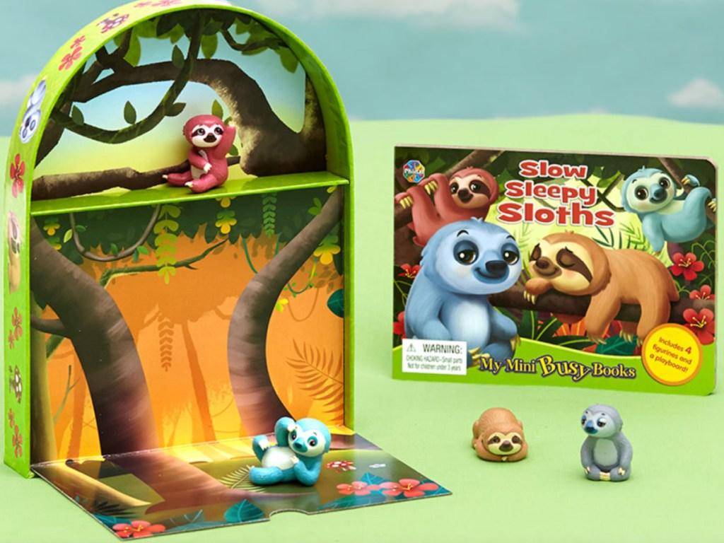 sloth book + playset