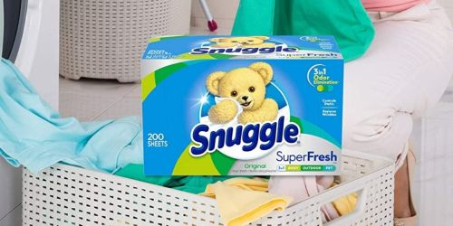 Snuggle Fabric Sheets 200-Count Box Only $4.54 Shipped on Amazon